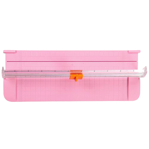 2Sets JIELISI 9090 Mini Small Slide Cutter Cut Paper Cutter Cutter Color:Pink