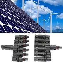 MC4 Solar Panel Connector 1 pair 6T Seven-Way Six in one Male Female Adapter