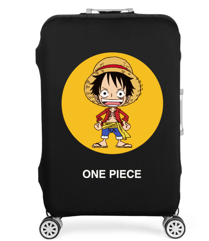 19-32 Inch Anime One Piece Elastic Thicken Luggage Suitcase Protective Cover Protect Dust Bag Case Cartoon Travel Cover