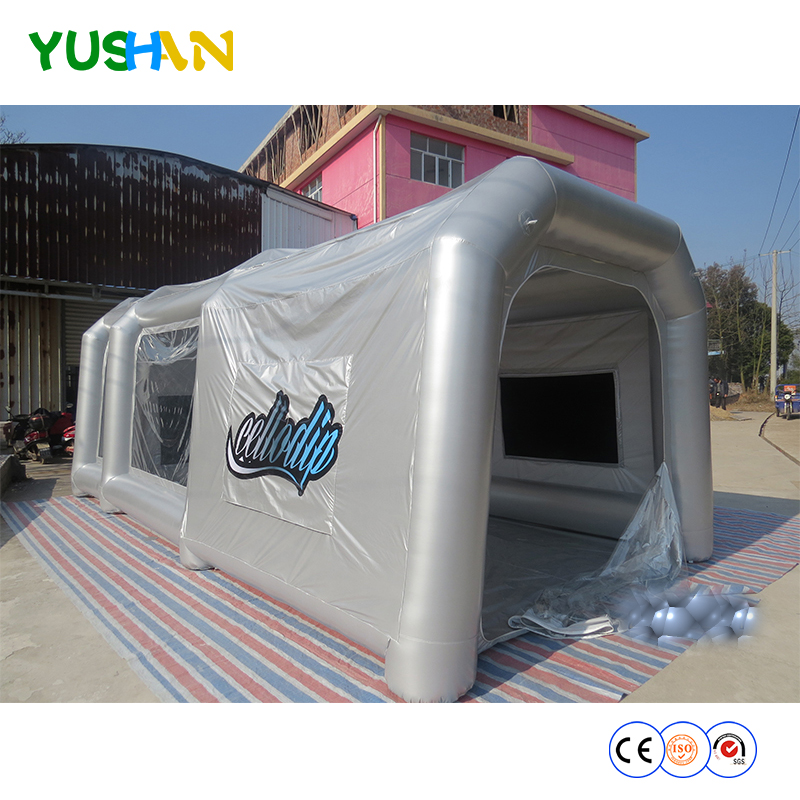 free shipping to door,8x4x3m inflatable Car Wash tent Inflatable Car Paint Booth , Inflatable Spray Booth painting booth