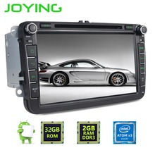 Joying 2 Din Android 6.0 Quad Core 2GB+32GB 1024*600 Car Stereo Radio GPS Navigation For VW Skoda POLO GOLF  PASSAT CC Head Unit
