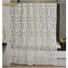 Modern Bath Screens Triangular Pattern Printing Shower Curtain Waterproof Mildewproof Polyester Fabric Bath Curtain Bathroom цена