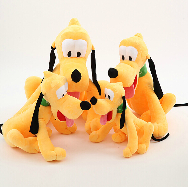 1pcs/lot 30cm Sitting Plush Pluto  Doll Soft Toys Stuffed Animals Toys For Children Mickey Minnie For Birthday Kids Gifts