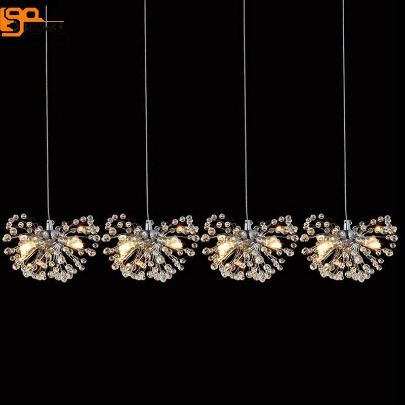 new beautiful crystal chandelier lighting modern lustre LED hanglamp dinning room shop crystal lights fixtures