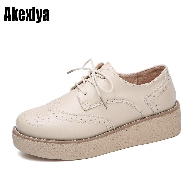 2c4496a021 Apricot Taille Nouvelles Sneakers D676 Plate De Femme Cuir 2019 35 noir  Casual Chaussures Compensées Femmes ...
