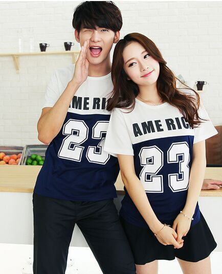 Hot Selling Fashion Couple Clothes Lovers Summer Casual 23 -7705