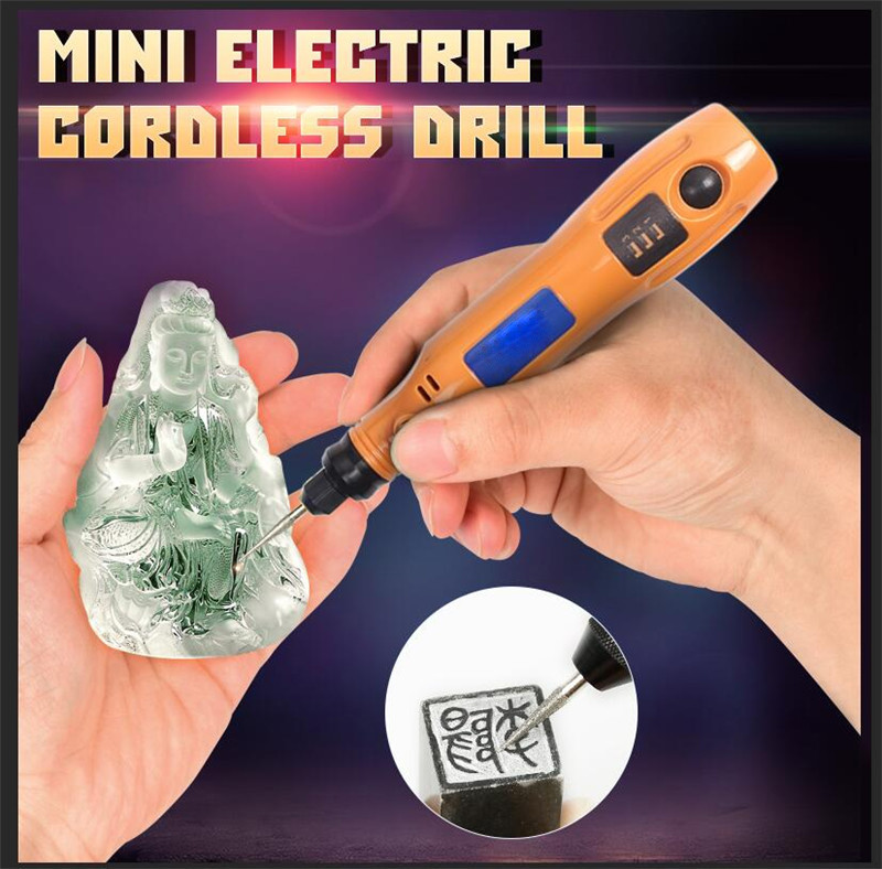 Mini Grinder DC 3.6V Mini Electric Cordless Drill Variable Speed Grinding Rotary Tool Jade Carving Pen Electric Drill Grinding haoli wireless portable electric mini drill carving polishing grinding drilling tool variable speed liuthium battery rotary tool