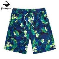 Palager Floral Beach Shorts Clothing 2017 Summer Board Shorts Men Quick Drying Tropical Hawaiian Party Beach