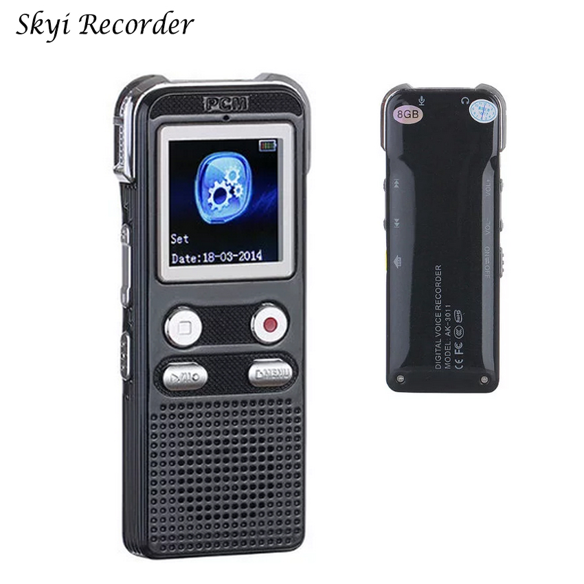 Professional Voice Recorder Pen 8GB 120hrs Digital Audio Recorder MP3 player Voice Recording Mini Dictaphone Wav Sound Record