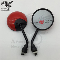 5 Colors Available Round Motorcycle Rearview Mirror 10mm Motorbike Rear View Mirror For Yamaha Moto Red