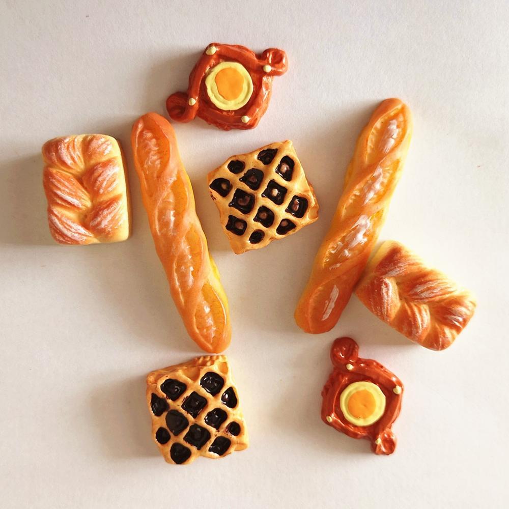 8pcs Home Craft Mini Food Bread Ornament Miniature Dollhouse Decor Doll House Accessories Fake Croissant