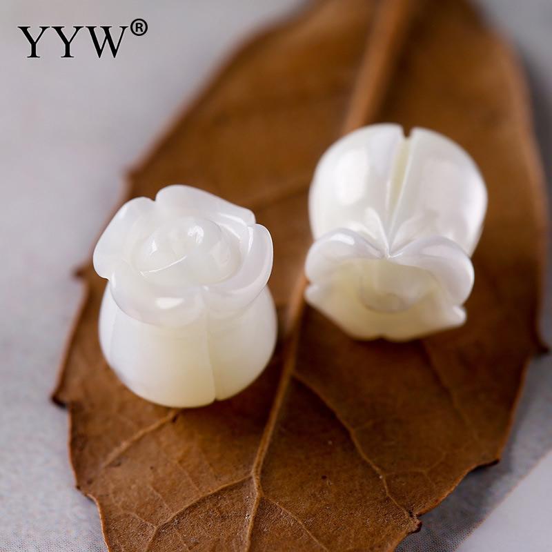 WohltäTig Yyw 1 Stück Natürliche Weiß Geschnitzte Rose Blume Shell Perlen Mutter Der Perle 8mm Lose Taste Perlen Für Schmuck Handgemachte Zubehör Perlen Schmuck & Zubehör