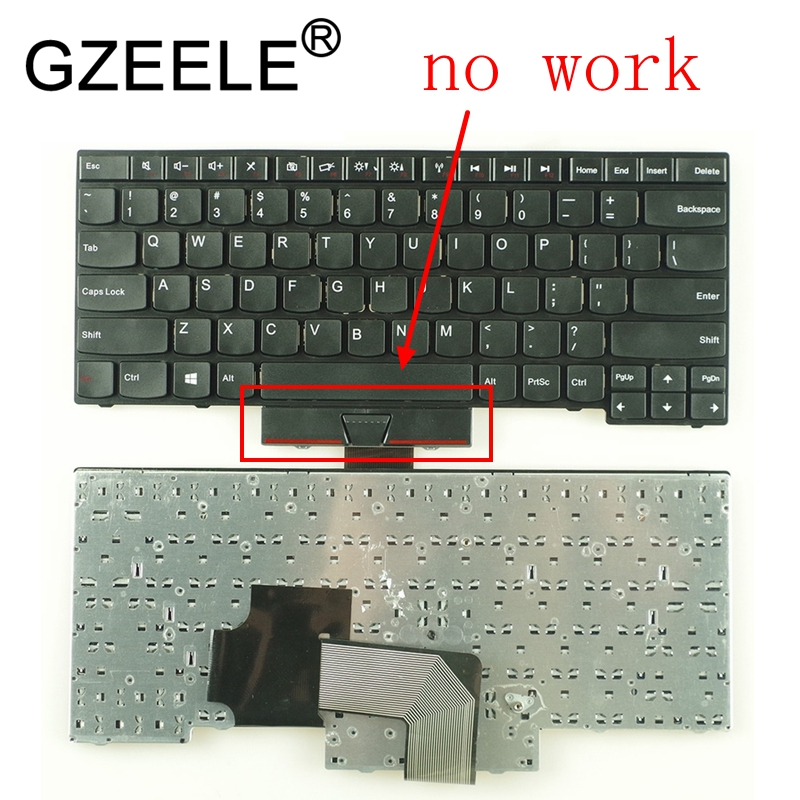 GZEELE New US Keyboard For IBM For Lenovo For ThinkPad Edge E430 E435 E330 E430C E430S E445 E335 S430 T430U English Keyboard US