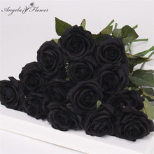 Полиуретан с эффектом реального прикосновения Искусственный Черный тюльпан розы великолепные латексные тычинки для цветов Свадебные поддельные цветы dcor домашние вечерние памятные 15 шт./лот