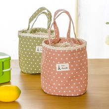 BF040 Multi-functional Cotton and linen wave point receive package storage bag  30*16CM free shipping