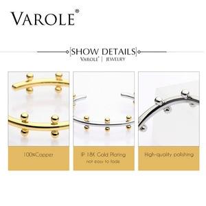 Image 5 - VAROLE Noeud Armband Gold Color Bracelet Manchette Bangles Metal Beads Cuff Bracelets & Bangle For Women Jewelry Pulseiras