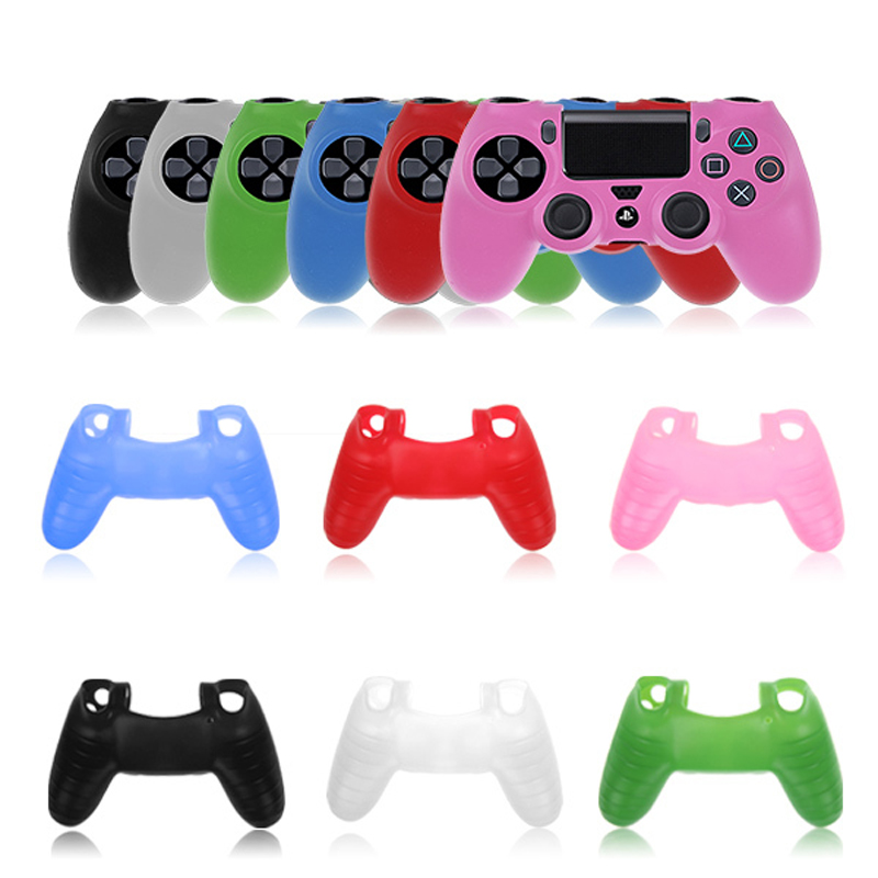 50pcs Lot Silicone Rubber Soft Case Sleeve Gel Skin Cover for SONY PlayStation 4 PS4 Pro