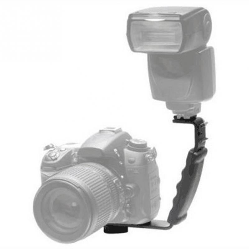 e60f9452a97 L-shaped Angle 2 Shoe Flash Bracket DV bracket tray Dual Hot shoe L-shaped  Flash Bracket for DSLR Camera and Camcorders