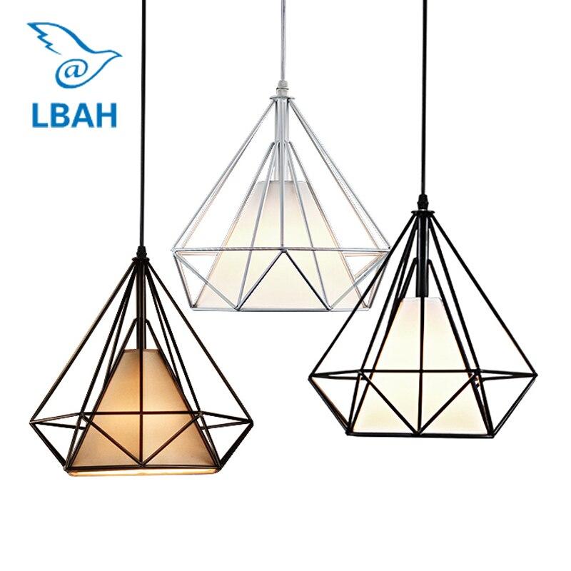 Nordic contracted originality bar desk lamp study dining room pendant lamp single head restoring ancient industrial wind