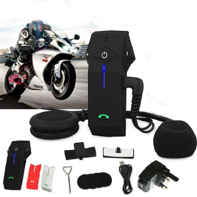 1PCS 1000m Motorbike Moto Helmet Bluetooth Intercom Stereo Headset Handsfree BT Interphone Earphones with NFC FM+Remote Control  (13)