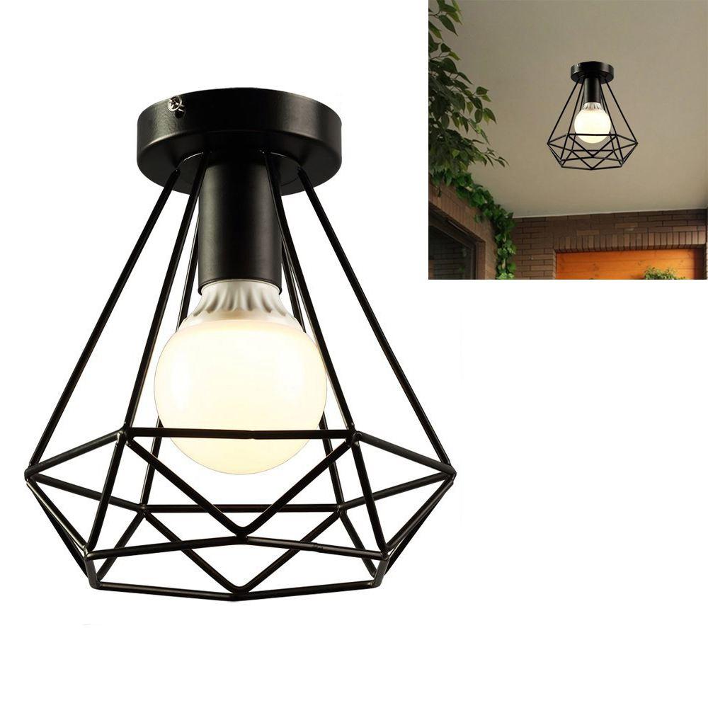 HTB1vJovGL1TBuNjy0Fjq6yjyXXaK Vintage Industrial Rustic Flush Mount Ceiling Light Metal Lamp Fixture American-style village Style Creative Retro Light Lamps