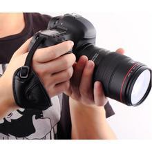 1 Pz Cuoio DELLUNITÀ di elaborazione Borsa Morbida Borsa Manico Lungo Cinturino Da Polso per Nikon per Canon per Sony per SLR/DSLR fotocamera