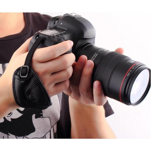 1Pc PU Leather Soft Handbag Handled Bag Wrist Strap for Nikon for Canon for Sony for SLR/DSLR Camera