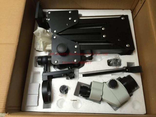 Vendita calda di Strumenti di Gioielli per la Vendita 7X-45X Microscopio Binoculare con Acrobat Del Basamento Del Microscopio Della Macchina Fotografica di Uscita VGA