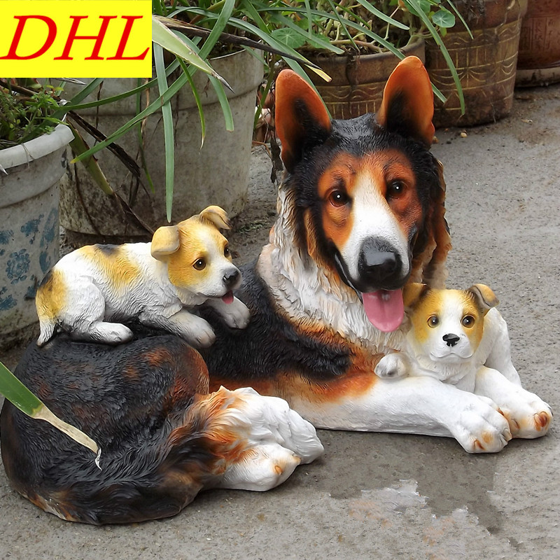 33.5cm Simulation Cute Wolfdog Animals Dogs Colophony Crafts Balcony Home Decorations Collectible Kids Gift Toy L1986 cute simulation bear animals boonie bears crafts continental home villa district decorations collectible model toy l1973