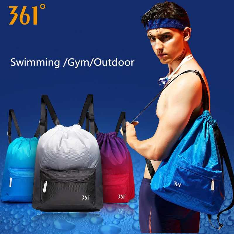 361º Gym Bag Swim Backpack for Men Women Waterproof Sports Bag Shoes Compartment