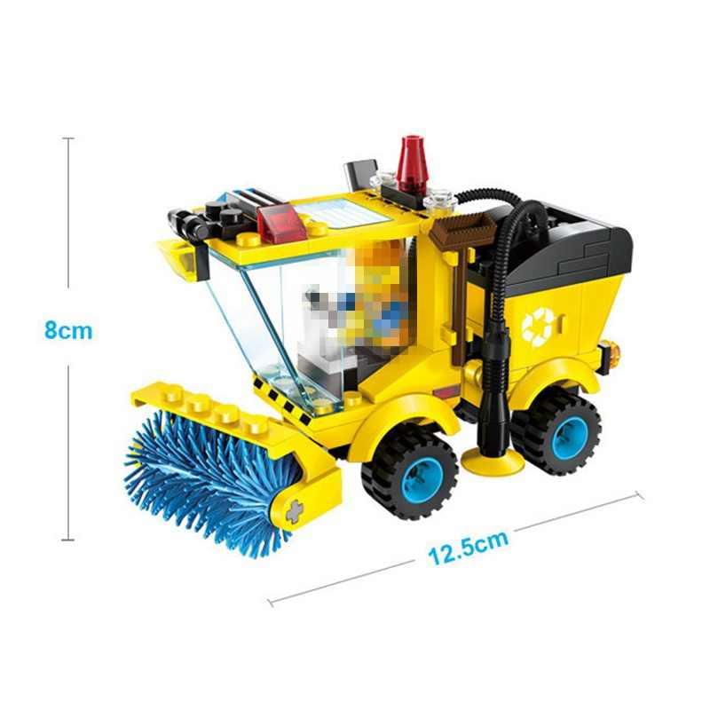 Legoing cidade blocos varredor trator carro única venda figuras de ação modelo blocos de construção brinquedos para crianças legoing carro bloco