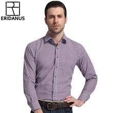 ERIDANUS 2016 Men's Classic Plaid Shirt Long Sleeve Dress Shirt