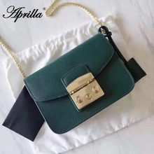Aprilla designer brand bags 17cm small flap real leather bag
