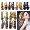 60 см, ponytail шиньоны, синтетических волос конский хвост, хвостики и части волос