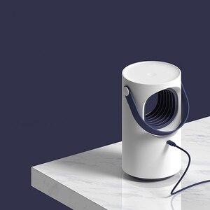Image 2 - Mới Nhất Youpin Tím Xoáy USB Đèn Diệt Muỗi LED Hộ Gia Đình Im Lặng Đêm Ánh Sáng Đèn Không Có Bức Xạ Chống Muỗi Dispeller