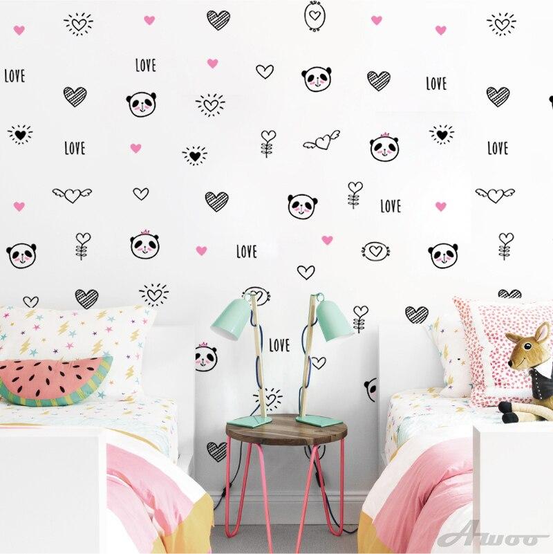Diy Baru Menyenangkan 11 Pcs Set Kreatif Hewan Panda Stiker Dinding Wallpaper Furniture Lemari Stiker Anak Bayi Dekorasi Kamar Dekorasi Rumah Wallpaper Aliexpress