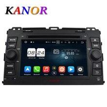 KANOR Android 6.0 Jugador Del Coche DVD GPS 1024*600 Ocho Core Para Toyota Prado 120 2006-2013 Coche Coche unidad principal de Navegación de Vídeo