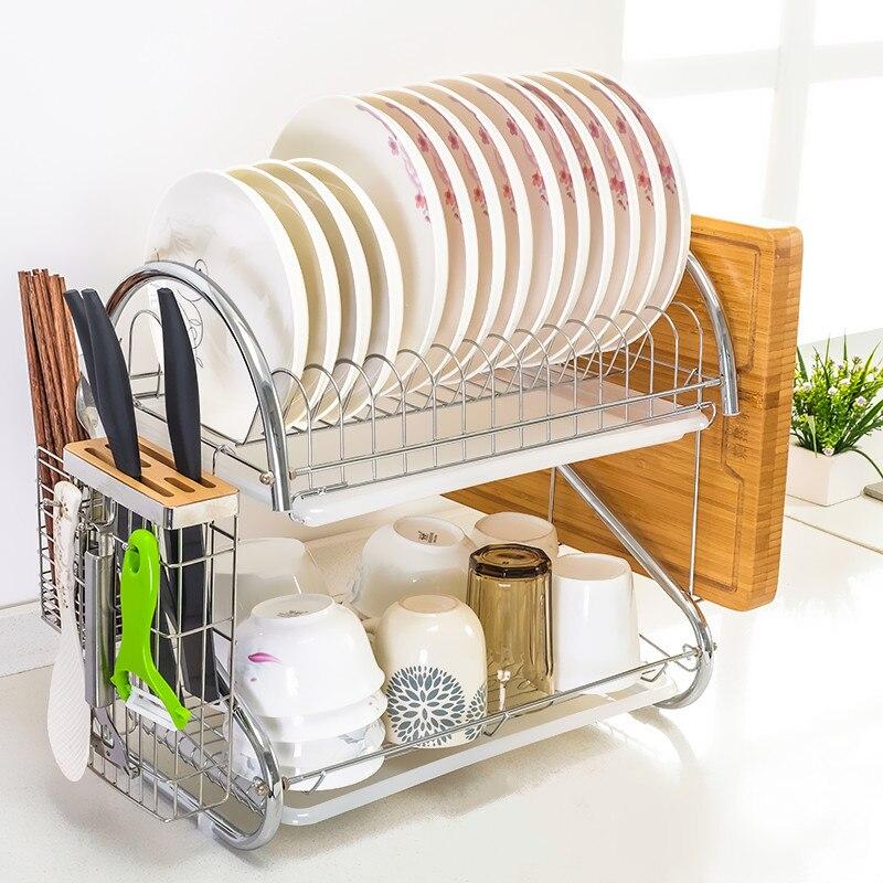 Home stainless steel storage shelf Kitchenware cupboard storage box Shelves kitchen hard ...