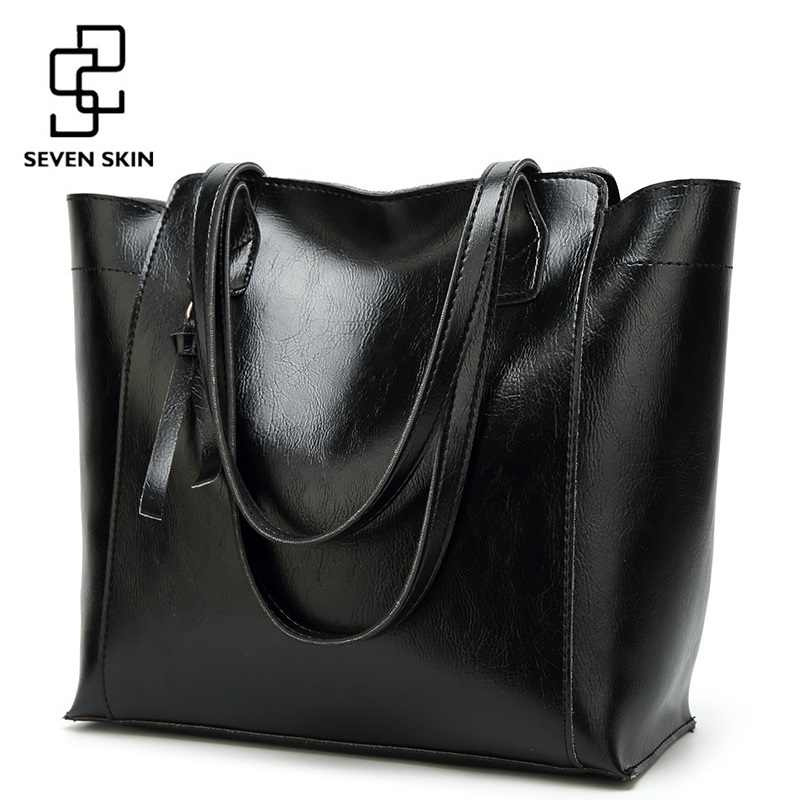 a6842728dd SEVEN SKIN Women Luxury Designer Shoulder Bags Female Fashion PU Leather  Handbags Women Large Capacity Tote