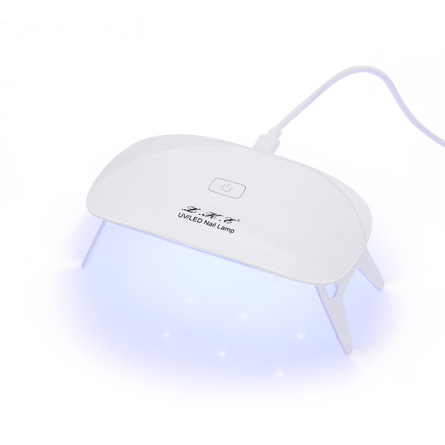 LKE 12W Nail Dryer LED UV Lamp Micro USB Gel Varnish Curing Machine For Home Use Nail Art Tools Nail For Lamps