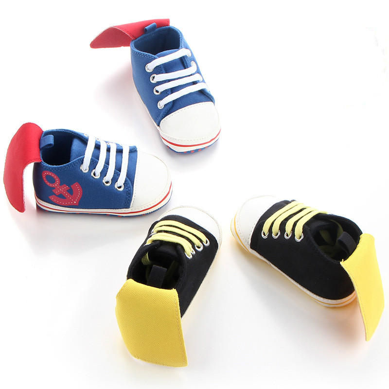 Baby First Walkers Baby Shoes Soft Bottom Non-slip Toddler Shoes for Baby Boys