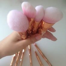 Diamond Rose Makeup Brushes Set Mermaid Fishtail