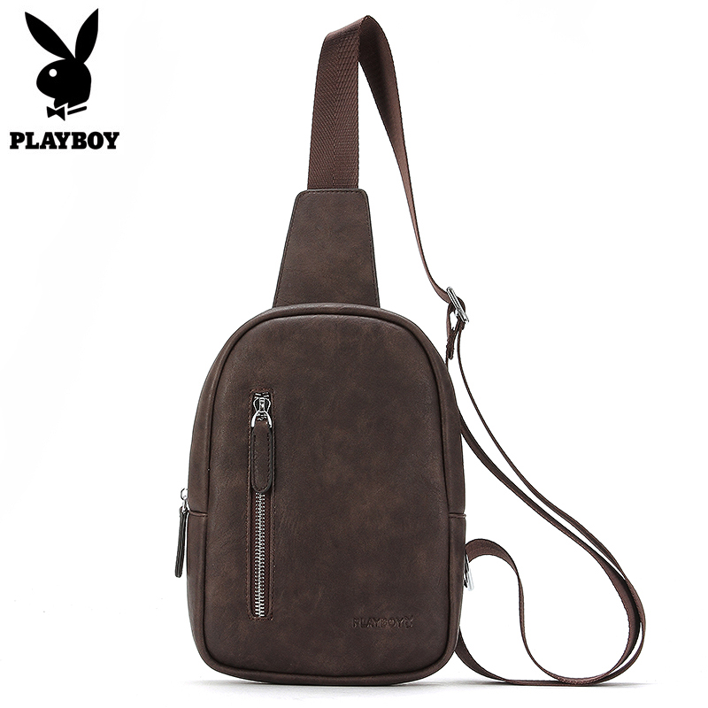 Vintage Men Shoulder Bag Strap Sling Leather Chest Pack Zipper Crossbady Bag Mens Travel Chest Bags Men Messenger Bags augur 2018 men chest bag pack functional canvas messenger bags small chest sling bag for male travel vintage crossbody bag