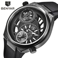 Los Hombres de moda Reloj de Hombre Reloj 2017 BENYAR Sport Mens Relojes de Primeras Marcas de Lujo Reloj de Cuarzo Militar Reloj Relogio masculino