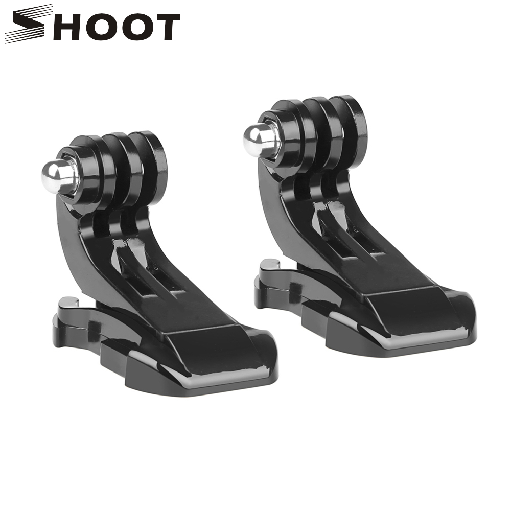 SHOOT 2 PCS Chest Strap Helmet Front Mount Vertical Surface J-hook Buckle Mount For Gopro Hero 6 5 4 SJCAM Xiaomi yi Accessory gopro wrist strap mount arm strap mount hook