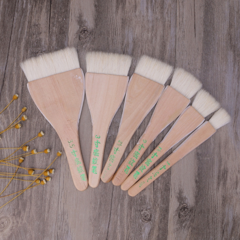 Six Sizes Goat Hair Handle Art Supplies Watercolor Acrylic Wood Oil Paint Brush For Painting Art Supplies