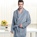 Plus size very long Men Thicker Winter Sleep  Lounge Soft Bathrobe