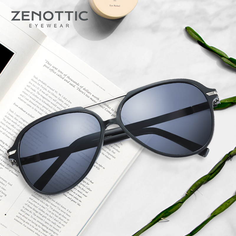 ZENOTTIC Polarized Prescription Glasses Women UV400 Polaroid Sunglasses For Men Glasses Spectacle Pilot Summer Eyewear BT6303