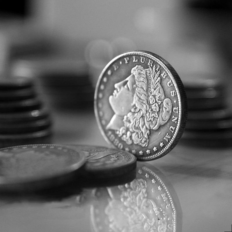 1 Pcs Steel Morgan Dollar (3.8cm Dia) - Tricks Coins Magic Tricks Props Accessories Magic Appearing/Disappearing Illusion Toys