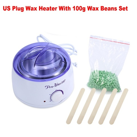 Russian Buyer Depilatory Warmer Wax Heater + 300g /100g Hard Wax Beans Hair Removal Machine Paraffin Wax Pot Painless Wax Heater Lahore